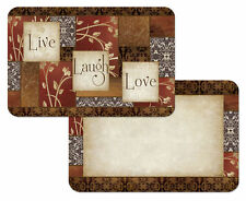 4 Reversible Live Laugh Love Kitchen Tabletop Place Mats Placemats Spice of Life