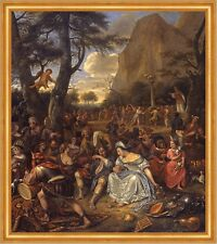 The Worship of the Golden Calf Jan Steen Fest Musik Triangel Feier B A1 02449