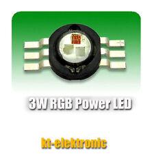 5 Stück RGB Power LED Emitter steuerbar 3W 3x350mA 3-Chip 6-Pin 105 lm