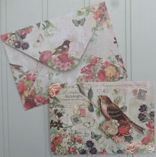 Punch Studio Retired 8 Set 3D Floral Bird Cages ~ Note Cards Keepsake Box 13776