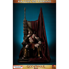 GAMING HEADS God Of War Kratos On Throne Statue Figure SEALED NEW