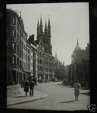 Glass Magic Lantern Slide SNOW HILL NEAR ST PAULS LONDON C1950S ENGLAND