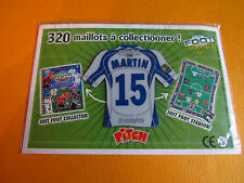 15 MARTIN AJ AUXERRE AJA ABBE-DESCHAMPS FOOTBALL JUST FOOT MAGNETS 2008 PANINI