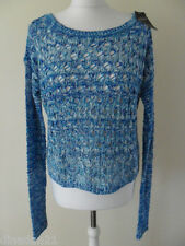 Hollister jumper size L (14) loose fit blue/multi, long sleeve, brand new