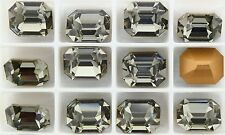 3 BLACK DIAMOND Vintage Crystal Swarovski 4610 14X10mm F