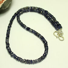 IOLITH (Wasser Saphir) KETTE Edelsteinekette Facettierte iolithkette Saphir blau
