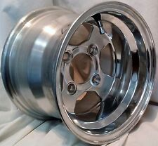 "1) 10"" 10x7 4/4 3+4 GOLF CART RIM  EZGO Club Car Yamaha Polished ALUMINUM Blem"