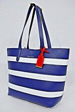 NWT! Cole Haan Cole Haan Palermo Medium Striped Tote in Blue, White & Red