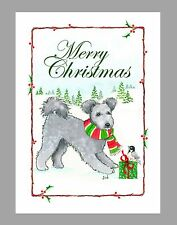 Pumi Dog Christmas Cards, Box of 16 Cards & 16 Envelopes