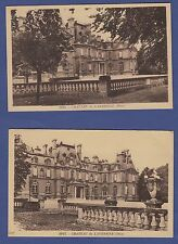 A433) Lot x2 CPA Cartes postales anciennes du château de LAVERSINE Oise-60