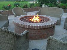 BRIGHTSTAR Mains Natural Gas Fire Pit Burner Only. Round 18kw Patio Heater UK