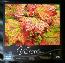 """Mega Puzzles 2013 Vibrant """"Maple Leaves"""" Jigsaw Puzzle-500 Pieces-NEW & Sealed"""