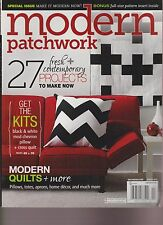 MODERN PATCHWORK MAGAZINE WINTER 2014, 27 FRESH+CONTEMPORARY PROJECTS TO MAKE NO