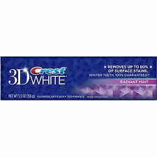 CREST 3D WHITE WHITENING TOOTHPASTE RADIANT MINT FLAVOUR 5.5oz (156g)