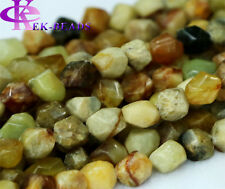 Wholesale Natural Rainbow nephrite Jade Nugget Hand Cut Free Form Loose Beads