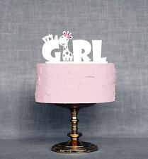 It's a Girl Baby Shower Cake Topper, Gender Reveal Party Decorations, USA