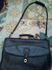 RAFAEL Black Leather Briefcase Laptop bag Messenger Vintage