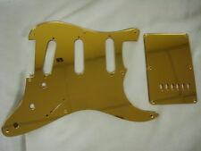 Fender Squier Strat Gold Mirror Pickguard Set