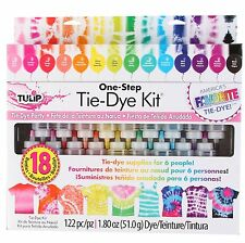 Tulip One Step 18 Colour TIE DYE Party Kit for 6 People  NEW