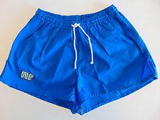 Vintage 80 ENNERRE Pantaloncini XL Blu 6° Calcio Shorts Glanz Soccer NOS OS VTG