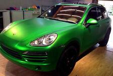 50cm x 1.52M Matte Metallic Green Satin Vinyl Car Wrap Air Release Squeegee