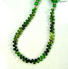 """Shaded chrome green TOURMALINE faceted pear beads AA+ 4.5-6mm 8"""" strand"""
