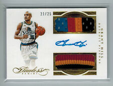 2015-16 GRANT HILL PANINI FLAWLESS DUAL PATCH SIGNATURE AUTO GOLD #ED 21/25