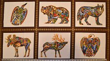 Robert Kaufman Earth Panel Sue Coccia From Animals Spirits 2 Quilting Crafting
