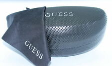 GUESS New BLACK Sunglasses HARD CLAM CASE Authentic Designer