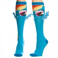 My Little Pony Rainbow Dash Character Image Knee High Derby Socks W/Wings, NEW