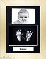 neuf Kit de Moulage bébé Cadeau Portrait Argent Main Pied brossé Or 3D Cadre