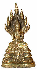 Mini brass Buddha naga serpent king mucalinda messing boeddha laiton Bouddha