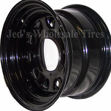 "1) 12"" 12x7 5+2 4/115 ITP Delta Steel Black D-Window DOT RIM WHEEL D12F515 10mm"