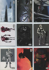 Star Wars the Force Awakens Series 2 Concept Art Complete 9 Card Chase Set