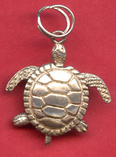 Vintage Sterling Charm - 3-D Sea Turtle - Everything Moves
