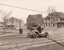Early auto car street Victorian homes c1905 photo CHOICES 5x7 or request 8x10 or