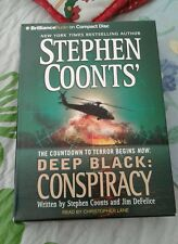 STEPHEN COONT'S AUDIO BOOK DEEP BLACK CONSPIRACY