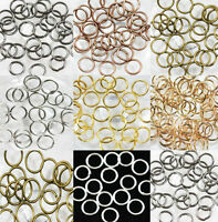 Lots of 2000pcs Metal Open Jumping Rings Finding for Craft DIY 4mm 6mm 8mm