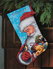 NEW | Dimensions D71-09145 | Santa & Toys Christmas Stocking Tapestry Kit | 16in