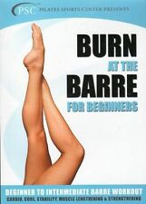 BURN AT THE BARRE FOR BEGINNERS DVD  BALLET EXERCISE WORKOUT NEW SEALED