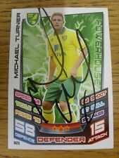 2012/2013 Autograph: Norwich City - Turner, Michael [Hand Signed 'Topps Match At