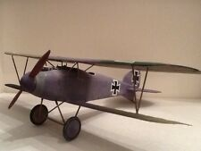 built plastic model of a german Albatros D.lll fighter from WW1 in 1/32 nd scale