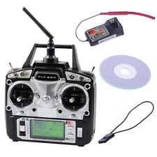Flysky FS-T6-RB6 FS 2.4GHz RC Helicopter Transmitter Receiver 6CH 6Channel Radio