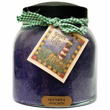 Heather and Hyacinth Scented Jar Candle, 34 oz, 2 Wick, by Keeper's of the Light