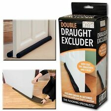 Double Draught Excluder Door Insulation Double Sided Twin Guard Energy Saving