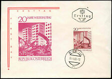 Austria 1965, 20 Years Of Reconstruction FDC First Day Cover #C21080