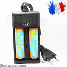 CHARGEUR RS-93 + 2 PILES ACCU RECHARGEABLE 18650 3.7v 3000mAH BATTERY BATTERIE
