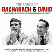 THE SONGS OF BACHARACH & DAVID - 50 ORIGINAL CLASSICS (NEW SEALED 2CD)