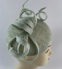 ladies mint green fascinator wedding races
