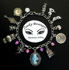 Labyrinth movie inspired tibetan silver chain charm bracelet. David Bowie. Gift
